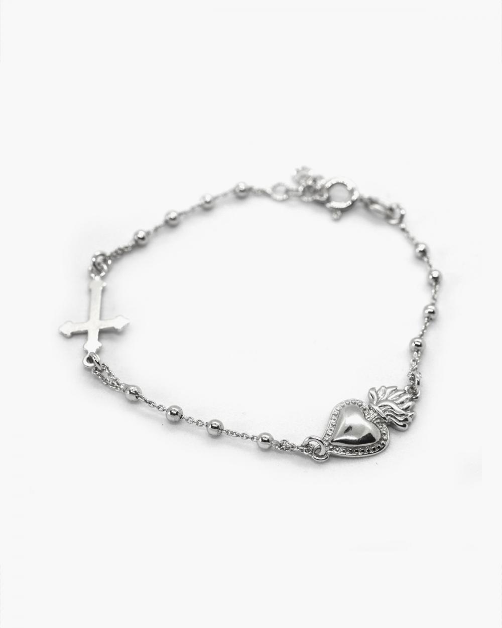 Bracelets EX-VOTO & GOTHIC CROSS ROSARY BRACELET NOVE25