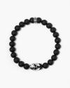 onyx spartan helmet bracelet