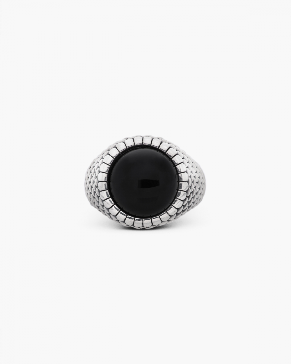 Archive Sale ARMOUR ROUND ONYX SIGNET RING NOVE25