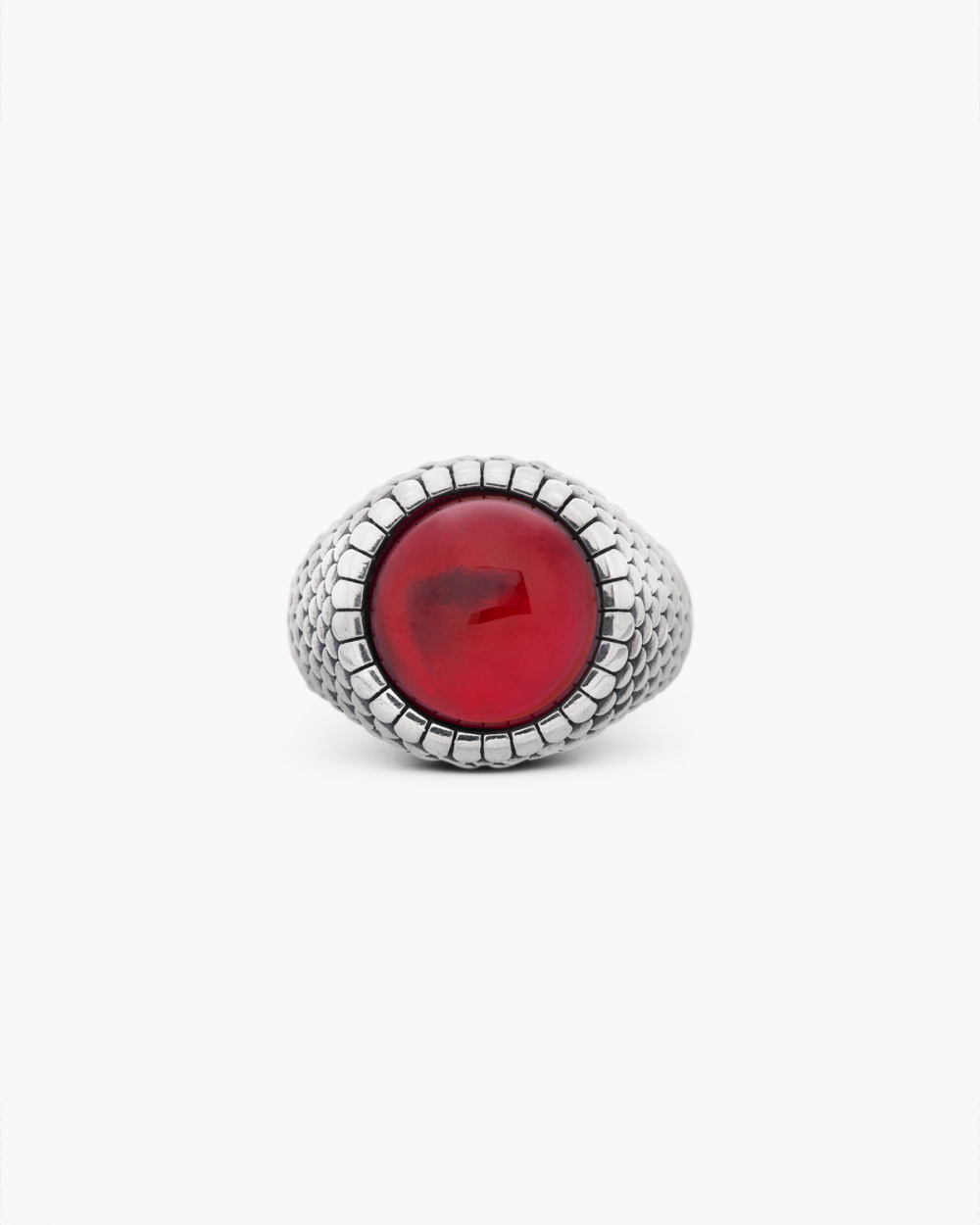 Archive Sale ARMOUR ROUND CORUNDUM SIGNET RING NOVE25