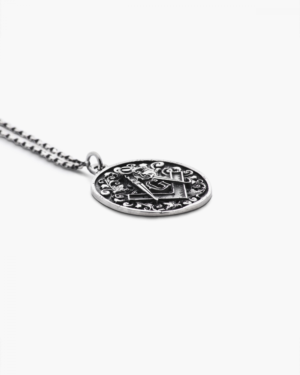 Archive Sale ANTIQUED SQUARE AND COMPASSES PENDANT NOVE25