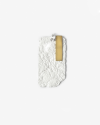materic white plate pendant