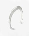 bracciale poligonale materic bianco
