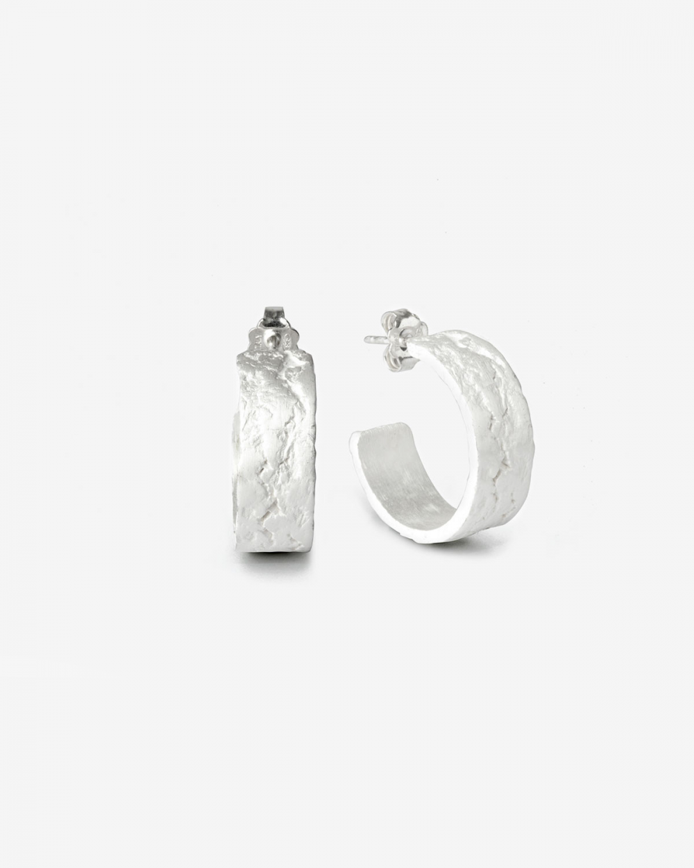 Earrings MATERIC WHITE BAND HOOP SINGLE EARRING NOVE25