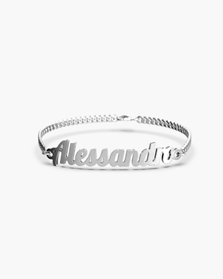 NAME CURB CHAIN BANGLE