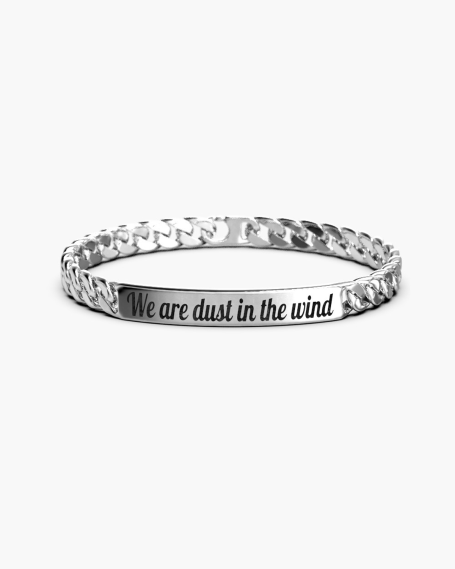 SQUARE CURB BRACELET 250 WITH PLATE