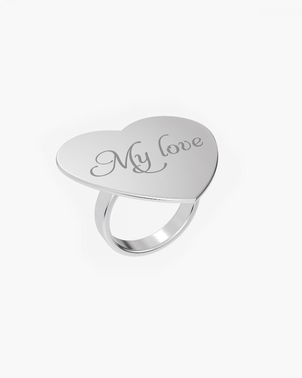 MYNOVE25 MEDIUM HEART PLATE RING 30 MM NOVE25