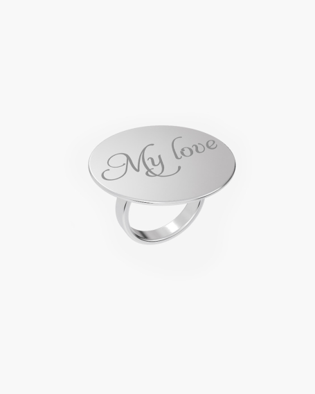 MEDIUM ROUND PLATE RING 30 MM