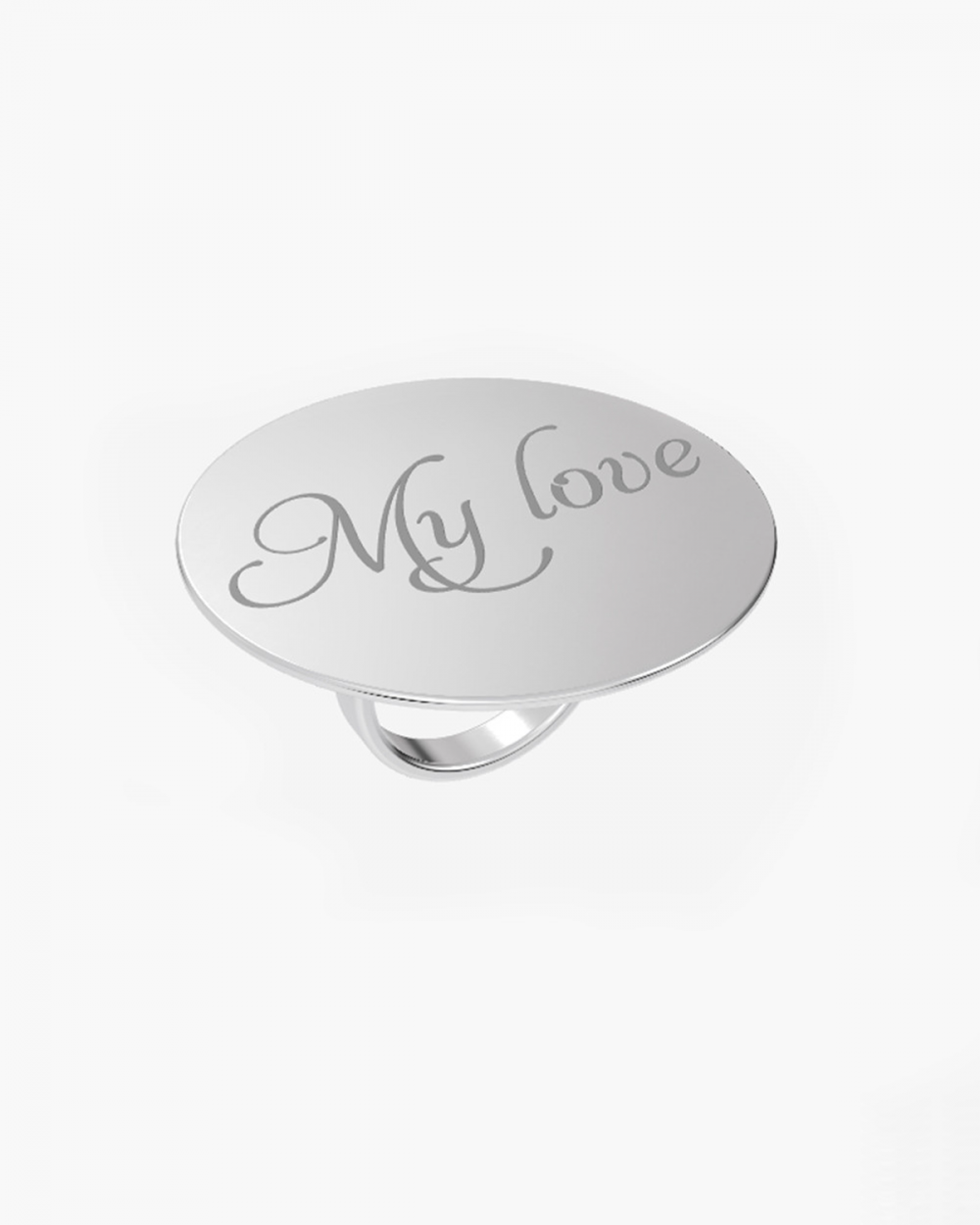 MYNOVE25 BIG ROUND PLATE RING 40 MM NOVE25