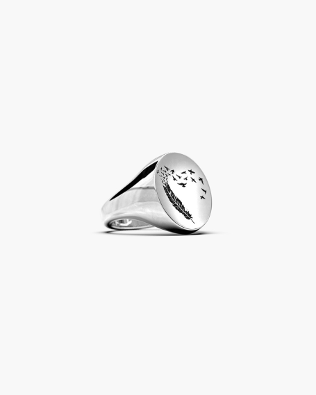 BIG OVAL SIGNET RING