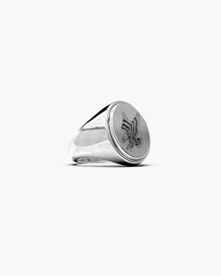RAISED OVAL SIGNET RING