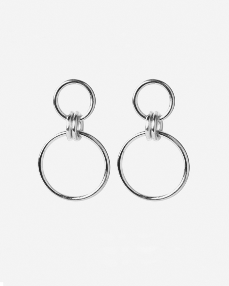 SILVER OMICRO EARRINGS