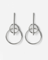 silver mars earrings