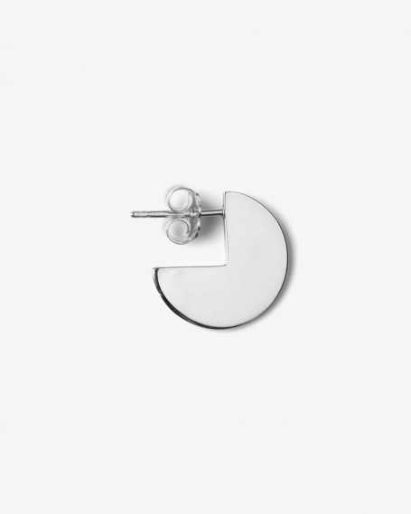 SILVER PACMAN SINGLE EARRING