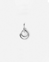 silver tau single earring