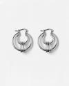 silver theta earrings