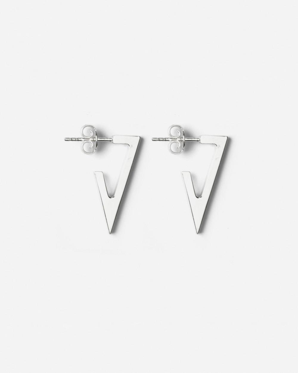 Earrings SILVER TRIANGULAR PLATE SMALL EARRINGS NOVE25