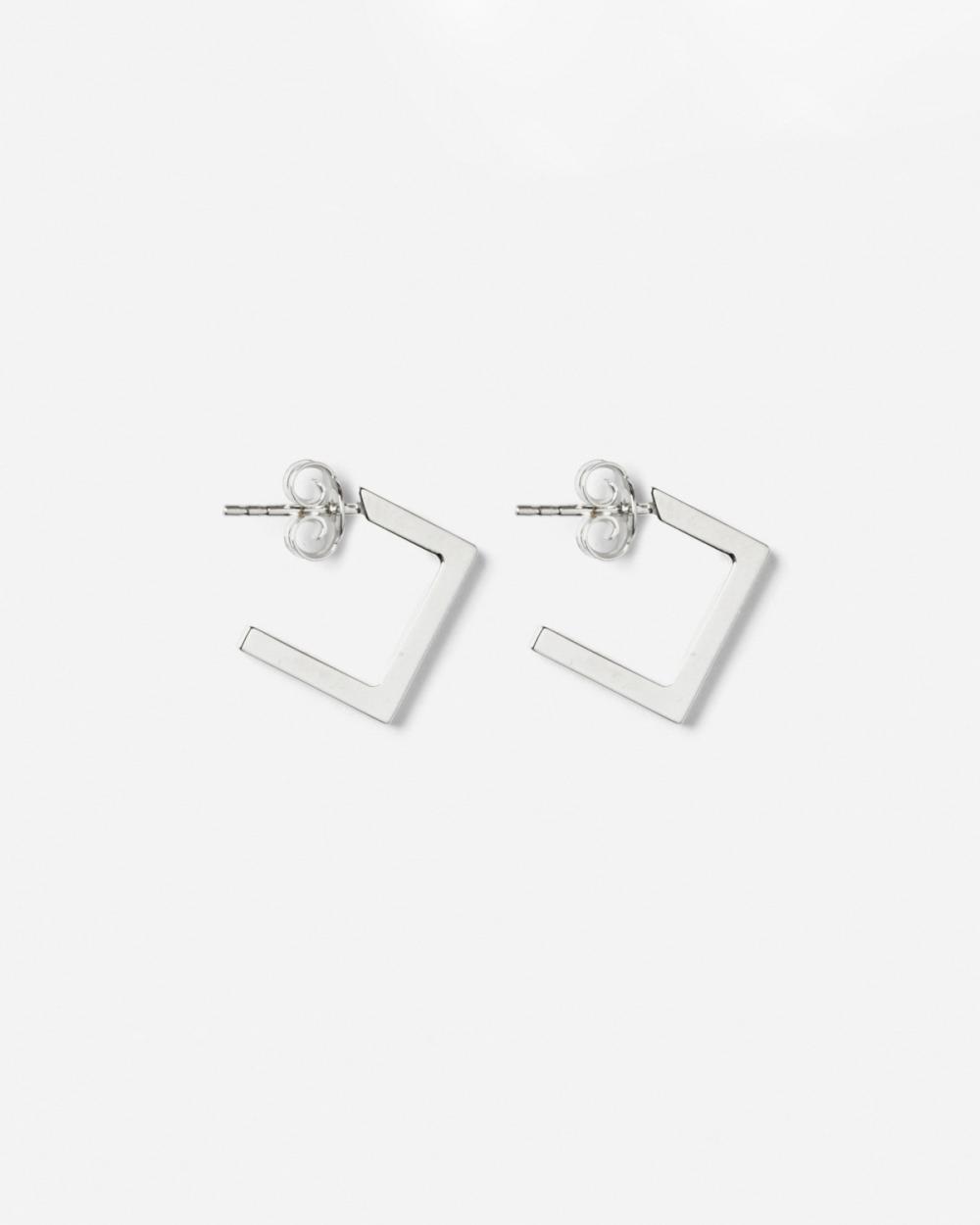 Earrings SILVER RHOMBUS PLATE SMALL EARRINGS NOVE25