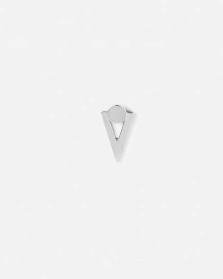 SILVER TRIANGLE AND CIRCLE SMALL SINGLE EARRING