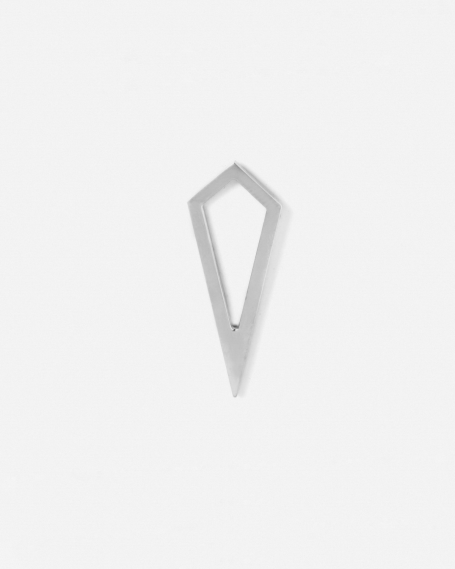 SILVER PRISM PROFILE SINGLE EARRING