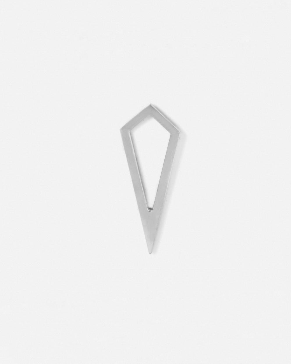 Earrings SILVER PRISM PROFILE SINGLE EARRING NOVE25