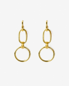 yellow gold gamma earrings