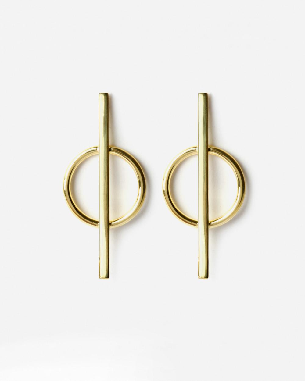 Earrings YELLOW GOLD PHI EARRINGS NOVE25
