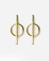 yellow gold phi earrings