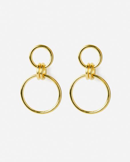 YELLOW GOLD OMICRO EARRINGS