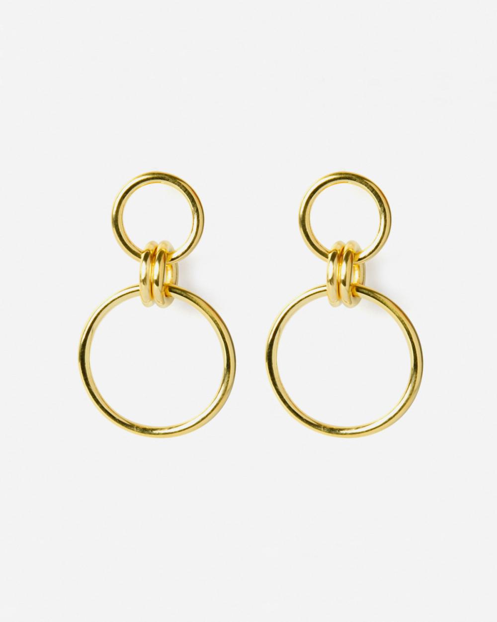 Earrings YELLOW GOLD OMICRO EARRINGS NOVE25