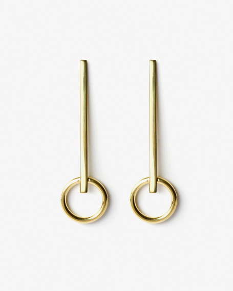 YELLOW GOLD IOTA EARRINGS