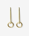 yellow gold iota earrings