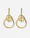 yellow gold mars earrings