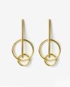 yellow gold jupiter earrings