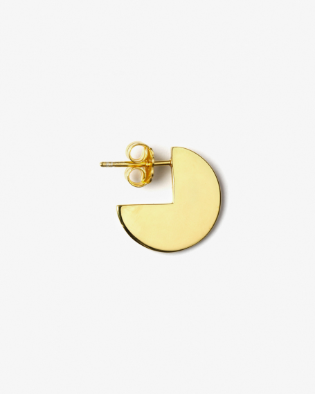 YELLOW GOLD PACMAN SINGLE EARRING