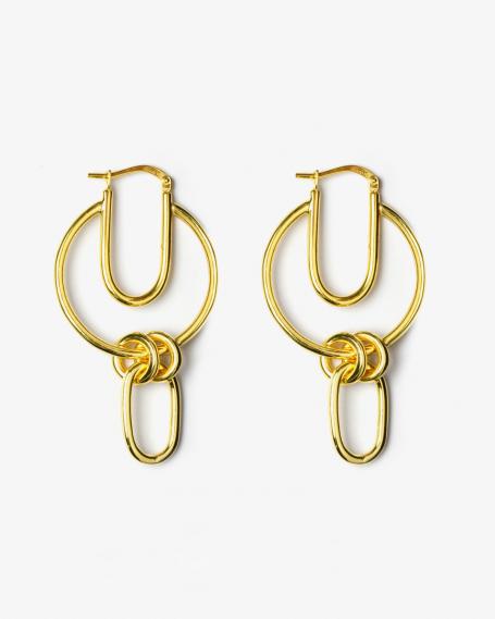 YELLOW GOLD BETA EARRINGS