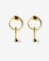 yellow gold galaxy earrings