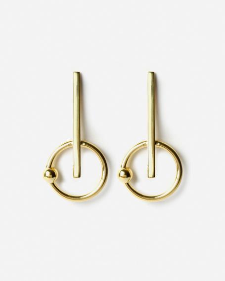 YELLOW GOLD MATRIX EARRINGS