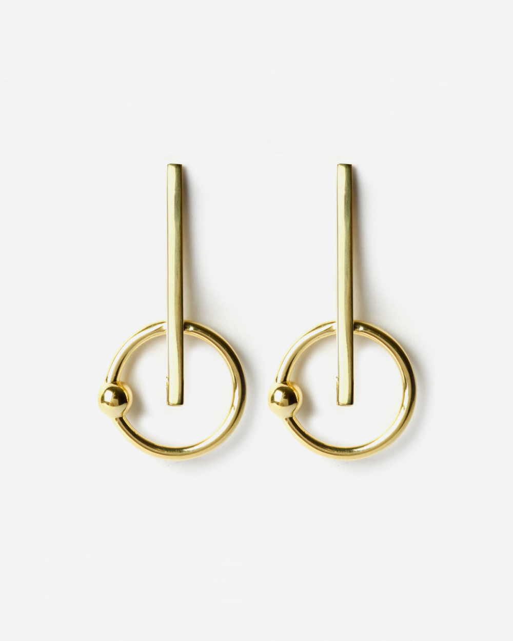 Earrings YELLOW GOLD MATRIX EARRINGS NOVE25