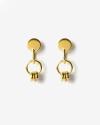 yellow gold kappa earrings