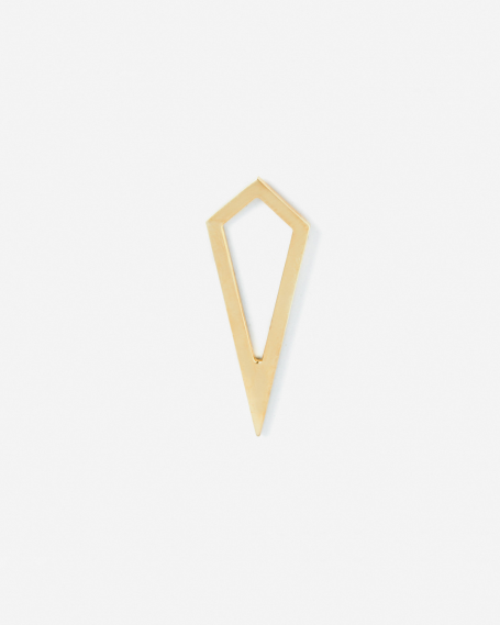 YELLOW GOLD PRISM PROFILE SINGLE EARRING