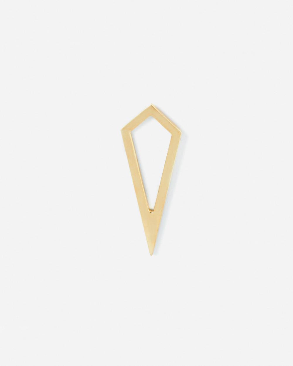 Earrings YELLOW GOLD PRISM PROFILE SINGLE EARRING NOVE25
