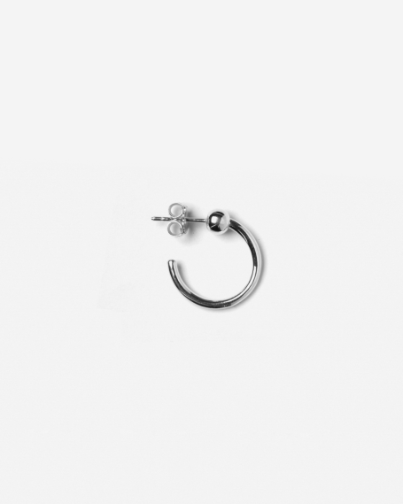 SILVER ALPHA SINGLE EARRING