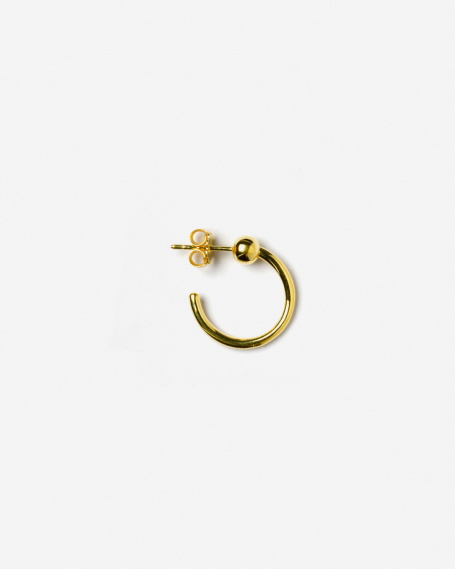 YELLOW GOLD ALPHA SINGLE EARRING