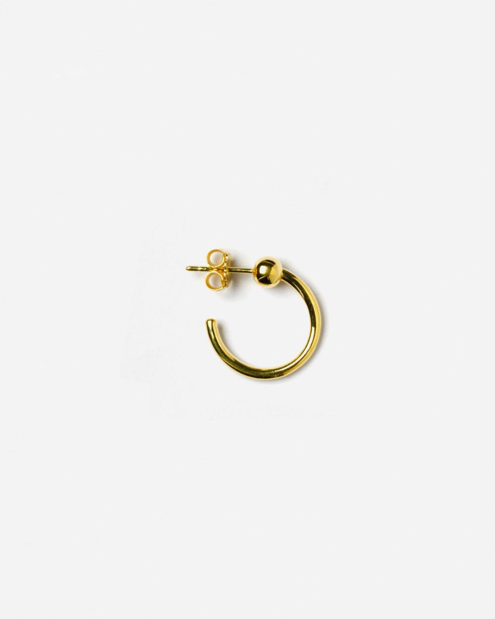 Earrings YELLOW GOLD ALPHA SINGLE EARRING NOVE25