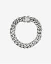 h120 silver oval zircon curb bracelet