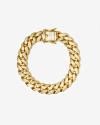 bracciale grumetta ovale h120 zirconato oro giallo