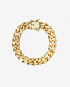 h120 yellow gold oval zircon curb bracelet