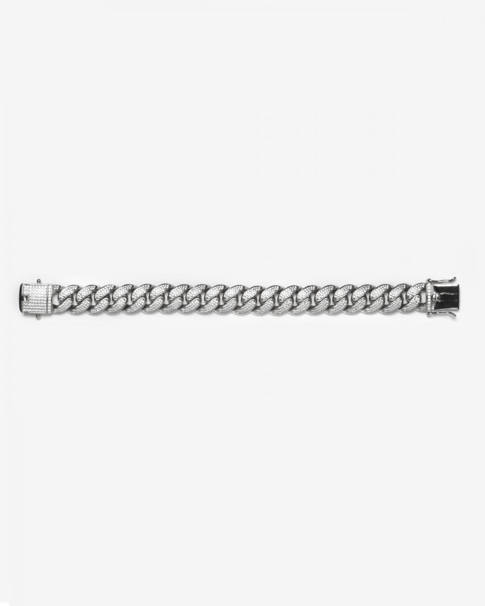 Bracelets H140 SILVER OVAL ZIRCON CURB BRACELET NOVE25
