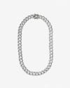 silver square zircon curb necklace